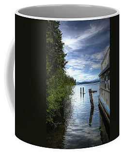 Priest Lake Houseboat 7001 Coffee Mug