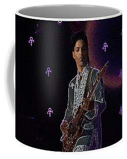 Coffee Mug featuring the photograph Prince At Coachella by Ericamaxine Price