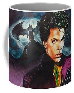 Coffee Mug featuring the painting  Prince Batdance by Darryl Matthews
