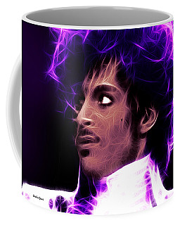 Coffee Mug featuring the digital art Prince - His Royal Badness by Stephen Younts