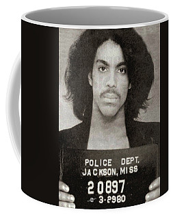 Prince Mug Shot Vertical Coffee Mug by Tony Rubino