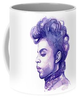 Prince Musician Watercolor Portrait Coffee Mug