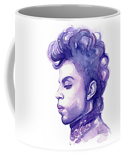 Prince Musician Watercolor Portrait Coffee Mug