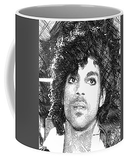 Prince - Tribute Sketch In Black And White 3 Coffee Mug