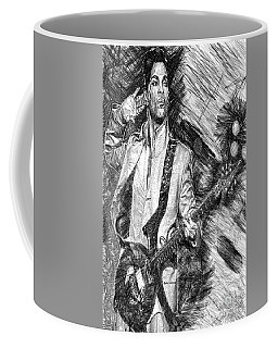 Prince - Tribute With Guitar In Black And White Coffee Mug