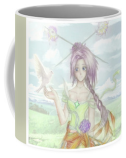 Coffee Mug featuring the mixed media Princess Altiana Colour by Shawn Dall