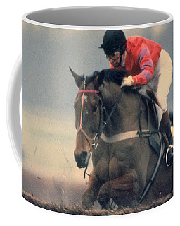 Princess Anne Riding Cnoc Na Cuille At Kempten Park Coffee Mug