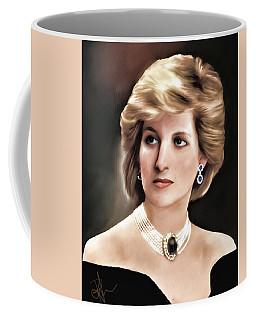Coffee Mug featuring the digital art Princess Diana by Pennie  McCracken