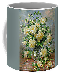 Princess Diana Roses In A Cut Glass Vase Coffee Mug