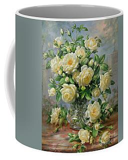 Princess Diana Roses In A Cut Glass Vase Coffee Mug