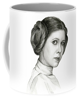Princess Leia Watercolor Portrait Coffee Mug