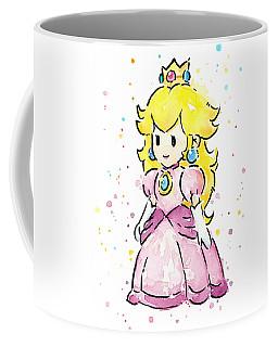 Princess Peach Watercolor Coffee Mug