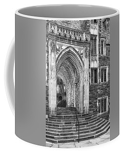 Coffee Mug featuring the photograph Princeton University Lockhart Hall Dorms Bw by Susan Candelario