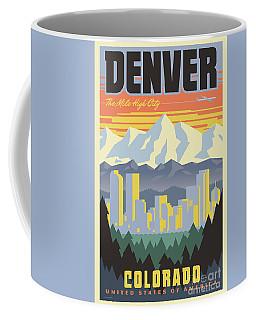 Denver Poster - Vintage Travel Coffee Mug