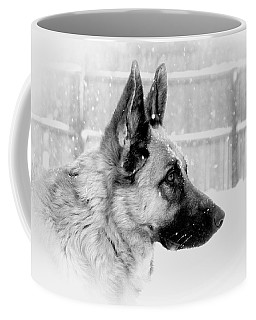 Profile Of A German Shepherd Coffee Mug
