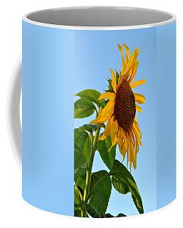 Profile Of A Sunflower Coffee Mug by Kathleen Sartoris