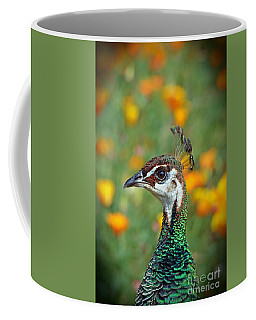 Profile Portrait Of A Peacock Coffee Mug