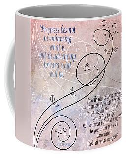 Coffee Mug featuring the digital art Progress by Angelina Vick