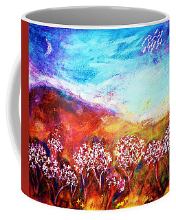 Coffee Mug featuring the painting Promise by Winsome Gunning