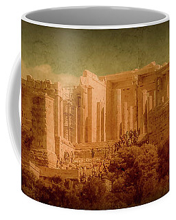 Coffee Mug featuring the photograph Athens, Greece - Propylaia by Mark Forte