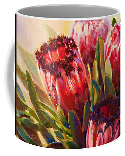Coffee Mug featuring the painting Protea - Tropical Flowers From Hawaii by Karen Whitworth