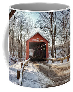 Protected Crossing In Winter Coffee Mug