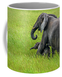 Protective Elephant Mom Coffee Mug