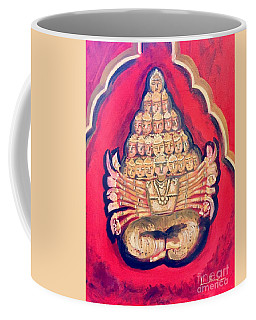Coffee Mug featuring the painting Protector by Brindha Naveen