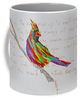 Proud Cardinal With Blessing Coffee Mug by Beverley Harper Tinsley