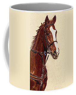 Proud - Portrait Of A Thoroughbred Horse Coffee Mug