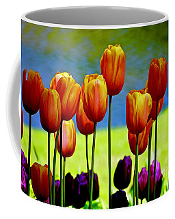 Proud Tulips Coffee Mug by Michael Cinnamond