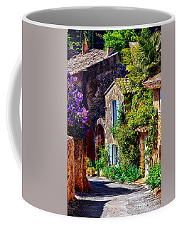 Provence Village Street In Spring Coffee Mug by Olivier Le Queinec