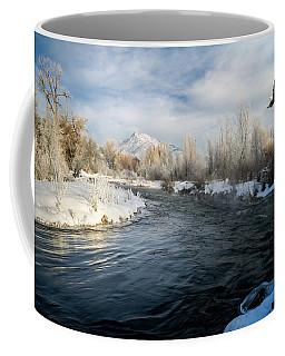Provo River In Winter Coffee Mug
