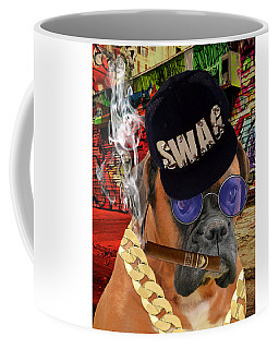 Coffee Mug featuring the mixed media Prowess by Marvin Blaine