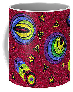 Coffee Mug featuring the digital art Pschedelic Universe Mosaic by Shelli Fitzpatrick