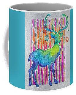Coffee Mug featuring the painting Psychedeer by Li Newton
