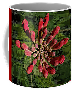 Coffee Mug featuring the photograph Psychedelic Bud by Jean Noren