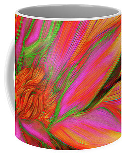 Coffee Mug featuring the photograph Psychedelic Daisy By Kaye Menner by Kaye Menner
