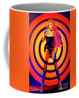 Psychedelic Hypnotic Pin-up Girl Coffee Mug