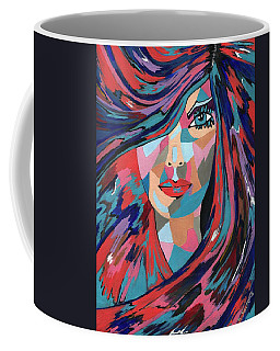 Psychedelic Jane - Contemporary Woman Art Coffee Mug