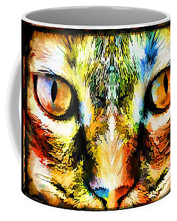 Psychedelic Kitty Cat Coffee Mug
