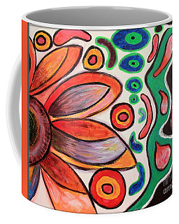 Coffee Mug featuring the painting Psychedelic Summer by Jolanta Anna Karolska