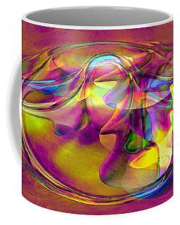 Coffee Mug featuring the digital art Psychedelic Sun by Linda Sannuti