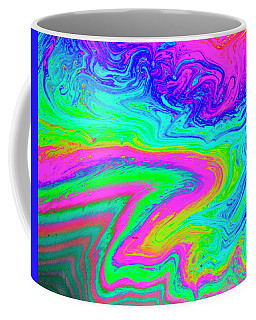 Coffee Mug featuring the photograph Psychedelic Swirl by Jean Noren