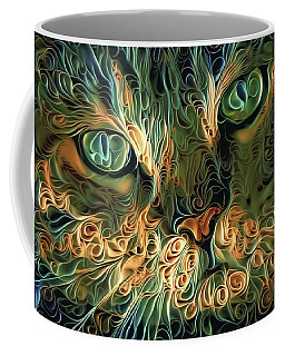 Psychedelic Tabby Cat Art Coffee Mug