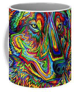 Psychedelic Wolf Coffee Mug