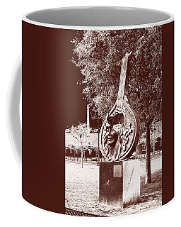 Coffee Mug featuring the photograph A Face Of Public Art by Lorraine Devon Wilke