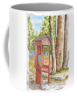 Public Phone In Mammoth Lakes, California Coffee Mug