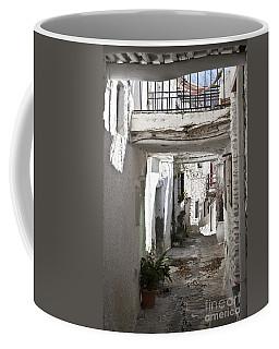 Coffee Mug featuring the photograph Puebla Blanca Capileira by Heiko Koehrer-Wagner