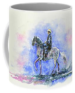 Puerto Rican Paso Fino Rider Coffee Mug by Zaira Dzhaubaeva